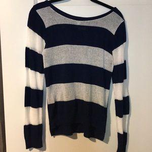 Knit Blue/white Sweater from Von Maur